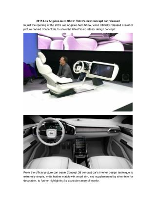 2015 Los Angeles Auto Show: Volvo's new concept car released
