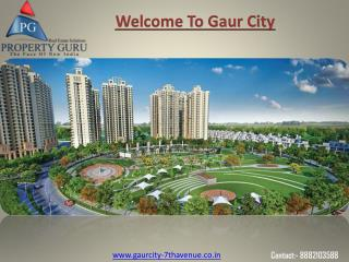 Gaur City 7th Avenue- 2 BHK  Flats at Noida Extension