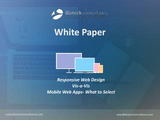 Responsive Web Design OR Mobile Web Apps
