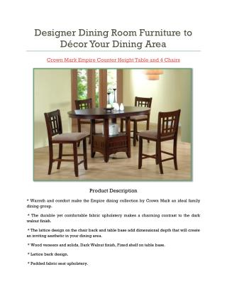 Designer Dining Room Furniture To Décor Your Dining Area