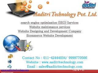 SEO in Delhi, Web Maintenance, Web Designing Services in Delhi
