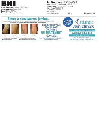 Atlantic Vein Clinics offers Varicose Vein Treatments & Removal