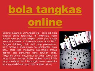 bola tangkas online