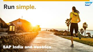 Vestrics Solutions for SAP Business One
