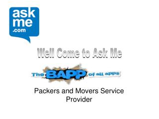 Packers and Movers - Call of Convenience