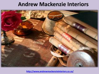 Andrew Mackenzie Interiors - South African Interior Decorators