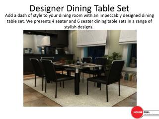 Designer Dining Table Set