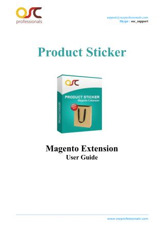 Product Sticker