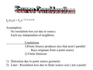 Source Considerations