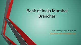MICR code Bank of India Mumbai Branches