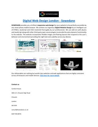 Digital Web Design London - Sowedane