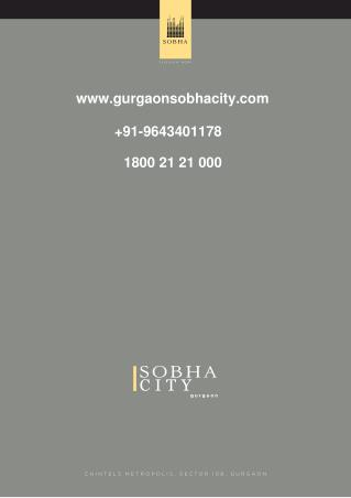 Pre Launch of Sobha CITY Sector 108 Gurgaon