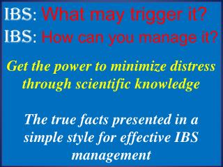 IBS: Tips on Contro and Management