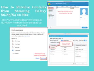 How to Retrieve Contacts from Samsung Galaxy S6/S5/S4 on Mac