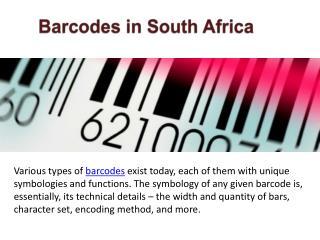 Types of Barcodes SA - barcodessouthafrica.co.za