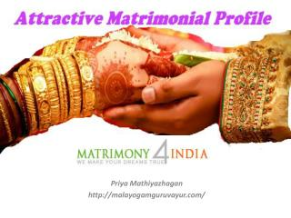 How to Create an Attractive Matrimony Profile