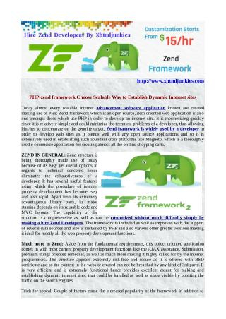 PHP-zend framework Choose Scalable Way to Establish Dynamic Internet sites