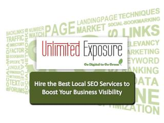 Hire the best local SEO services to boost your business visibility