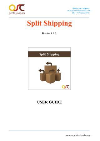 Split shipping