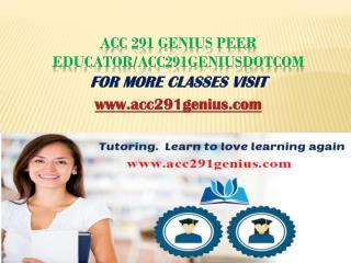 ACC 291 Genius Peer Educator/acc291geniusdotcom