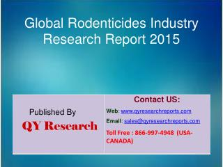 Global Rodenticides Market 2015 Industry Trends, Analysis, Outlook, Development, Shares, Forecasts and Study