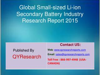 Global Small-sized Li-ion Secondary Battery Market 2015 Industry Growth, Outlook, Insights, Shares, Analysis, Study, Res