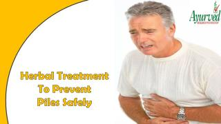 Herbal Treatment To Prevent Piles Safely And Naturally