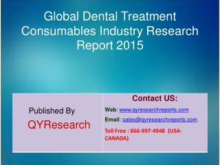 Global Dental Treatment Consumables Market 2015 Industry Growth, Trends, Analysis, Share and Research