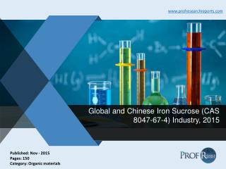 Iron Sucrose Industry Production Value, Market Growth 2015 | Prof Research Reports