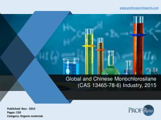Global and Chinese Monochlorosilane Industry Cost, Market Profit 2015