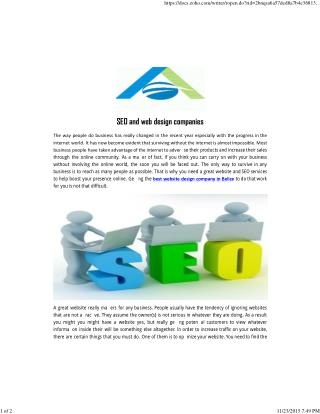 SEO and web design companies