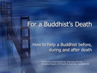 For a Buddhist's Death