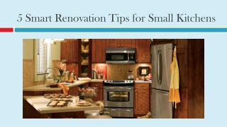 5 Smart Renovation Tips for Small Kitchens