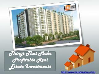 Things That Make Profitable Real Estate Investments