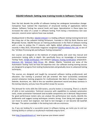 PPT - SQUAD Infotech Pvt Ltd  - Article PowerPoint