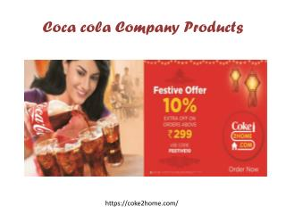 Coca Cola Company Products