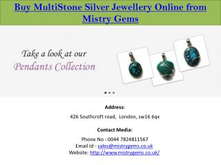 Multistone Silver Jewellery Online UK