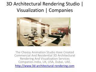 3D Architectural Rendering Studio   Visualization   Companies