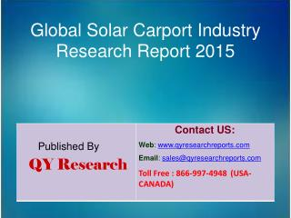 Global Solar Carport Market 2015 Industry Growth, Outlook, Insights, Shares, Analysis, Study, Research and Development