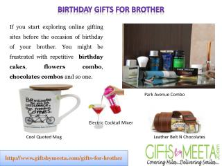 Birthday Gifts for Brother from Sister by GiftsbyMeeta