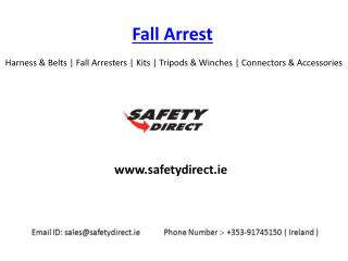 Harness & Belts | Fall Arresters | Kits | Tripods & Winches | Connectors & Accessories