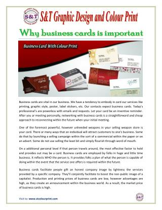 Why business cards is important