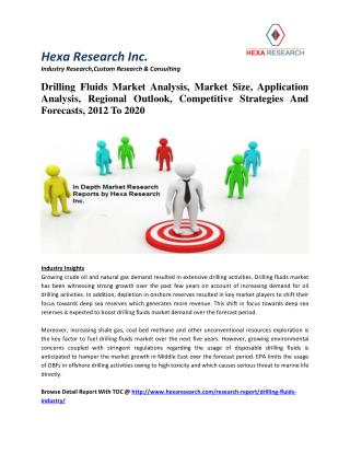 Drilling Fluids Market Analysis, Market Size, Application Analysis, Regional Outlook, Competitive Strategies And Forecas