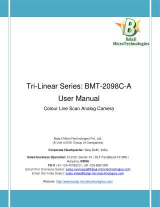 2098 PIXEL CCD RGB CAMERALINK LINE SCAN CAMERA | 2048 PIXEL CCD RGB CAMERALINK LINE SCAN CAMERA