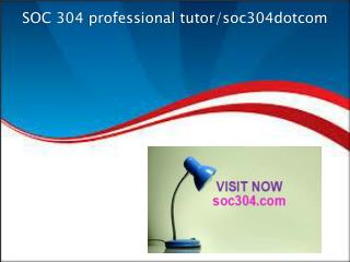 SOC 304 professional tutor/soc304dotcom