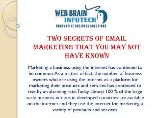 Secrets of Email Marketing Services to Reveal