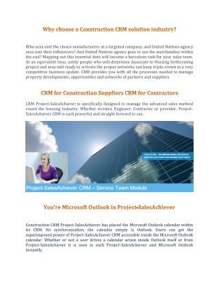 CRM for Contractors & Construction Suppliers
