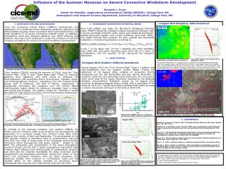 The Influence of the Summer Monsoon on Severe Convective Windstorm Development