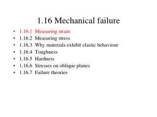 1.16 Mechanical failure
