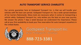 Auto Transport Service Charlotte